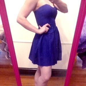 Strapless Purple Dress by KIRRA